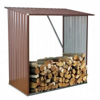 InGarden Šopa na palivové drevo 164 x 83 x 154 cm - hnedá