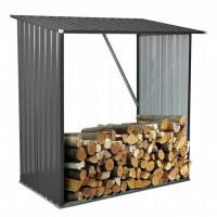 InGarden Šopa na palivové drevo 164 x 83 x 154 cm - tmavosivá