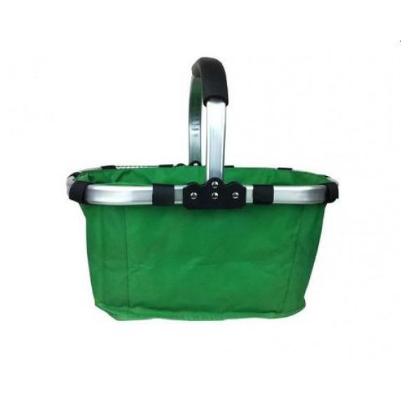 Nákupný košík skladací - zelený