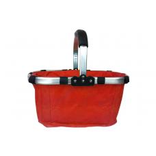 Nákupný košík skladací - červený Preview