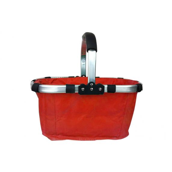 Nákupný košík skladací - červený