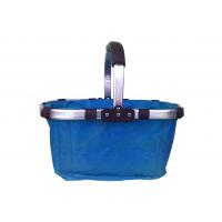 Nákupný košík skladací - modrý
