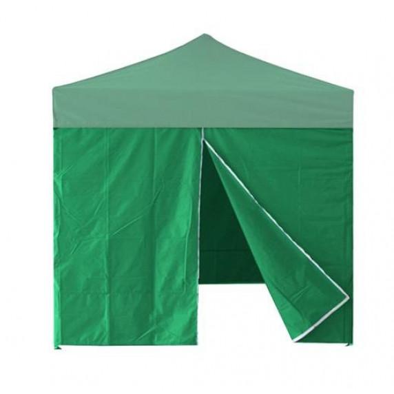 InGarden Bočnica s dverami k predajnému stánku 3 x 3 m - zelená
