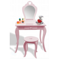 Detský toaletný stolík Inlea4Fun PHO0403 - ružový