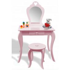 Detský toaletný stolík Inlea4Fun - ružový Preview