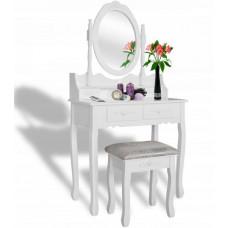 Inlea4Fun Toaletný stolík s taburetkou PHO3992M Preview