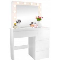 Inlea4Fun Toaletný stolík s LED osvetlením a 4 zásuvkami Preview