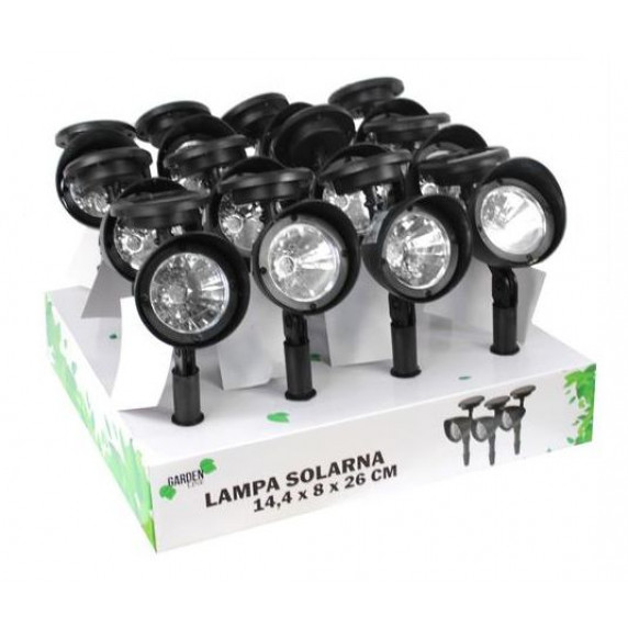 GARDEN LINE Záhradná solárna lampa do zeme Lexie 14,4 x 8 x 26 cm