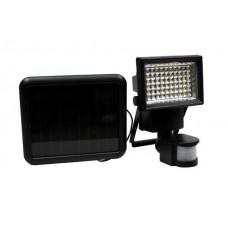 GARDEN LINE Solárna lampa s pohybovým senzorom 100 LED - čierna Preview