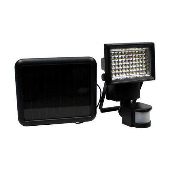 GARDEN LINE Solárna lampa s pohybovým senzorom 100 LED - čierna