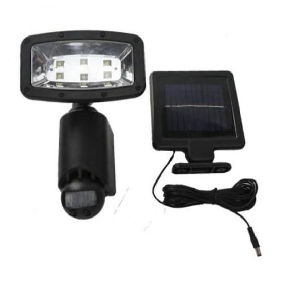 InGarden Solárna lampa s pohybovým senzorom 6 LED - čierna