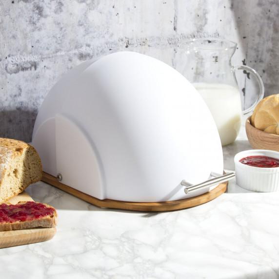 Cook Line CURCUMA Kovový chlebník - biely