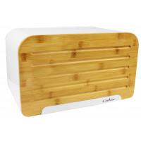 Cook Line ORIGANO Chlebník s bambusovými dvierkami - biely