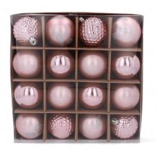 Vianočné gule 16 kusov 6 cm Inlea4Fun - ružové Preview