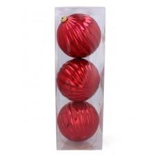 Vianočné gule 3 kusy 15 cm Inlea4Fun - červené Preview