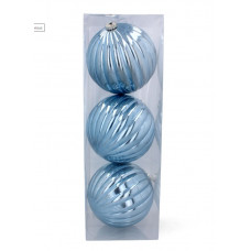 Vianočné gule 3 kusy 15 cm Inlea4Fun - modré Preview