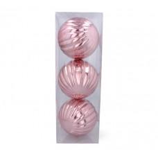 Vianočné gule 3 kusy 15 cm Inlea4Fun - ružové Preview