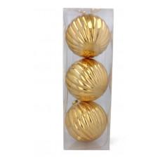 Vianočné gule 3 kusy 15 cm Inlea4Fun - zlaté Preview
