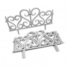 GARDEN LINE Záhradný plastový plot 59,5 x 37 cm - sada 4 ks - biely Preview