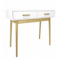 Stôl v škandinávskom štýle s 2 zásuvkami 90 x 40 x 79 cm InGarden SCANDINAVIA