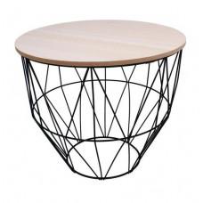 Konferenčný stolík 40/35 cm Inlea4Home 9039 - čierny/naturálny Preview