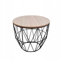 Konferenčný stolík 35/30 cm Inlea4Home 9046 - čierny/naturálny