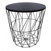 Konferenčný stolík 39,5/41 cm Inlea4Home 9114 - čierny