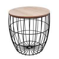 Konferenčný stolík 31/31,5 cm Inlea4Home 9220 - čierny/naturálny