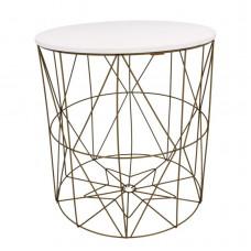 Konferenčný stolík 40/42,5 cm Inlea4Home 9077 - zlatý/biely Preview