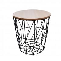 Konferenčný stolík 29/30,5 cm Inlea4Home 9169 - čierny/naturálny