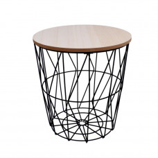 Konferenčný stolík 29/30,5 cm Inlea4Home 9169 - čierny/naturálny Preview