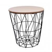 Konferenčný stolík 34/36 cm Inlea4Home 9152 - čierny/naturálny