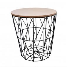 Konferenčný stolík 34/36 cm Inlea4Home 9152 - čierny/naturálny Preview
