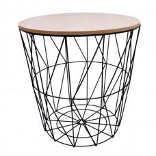 Konferenčný stolík 39,5/41 cm Inlea4Home 9145 - čierny/naturálny Preview