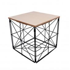Konferenčný stolík kocka 30 cm Inlea4Home 9237- čierny/naturálny Preview