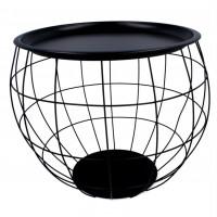 Konferenčný stolík 44 x 50 x 37 cm Inlea4Home 9084 - čierny