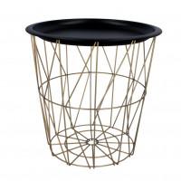 Konferenčný stolík 34/36 cm Inlea4Home 9183 - zlatý/čierny