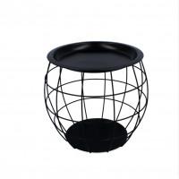Konferenčný stolík 27 x 29 x 28 cm Inlea4Home 9107 - čierny