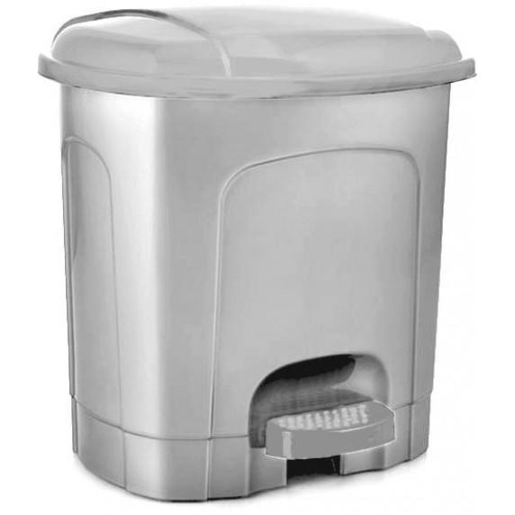 Nášľapný odpadkový kôš plastový 11,5 l Inlea4Home - sivý