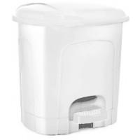 Nášľapný odpadkový kôš plastový 11,5 l Inlea4Home - biely