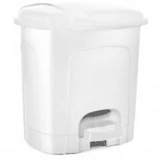 Nášľapný odpadkový kôš plastový 21 l Inlea4Home - biely Preview