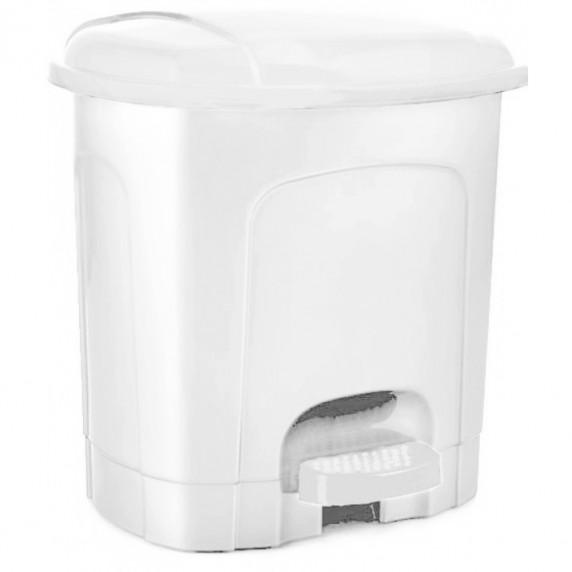 Nášľapný odpadkový kôš plastový 21 l Inlea4Home - biely
