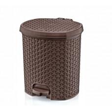 Nášľapný odpadkový kôš imitácia ratanu 11,5 l Inlea4Home - hnedý Preview