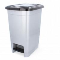 Nášľapný odpadkový kôš plastový 15 l Inlea4Home - biely