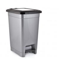 Nášľapný odpadkový kôš plastový 10 l Inlea4Home - sivý