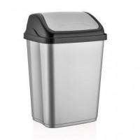Odpadkový kôš s výklopným vekom plastový 26 l VITTORIO - sivý