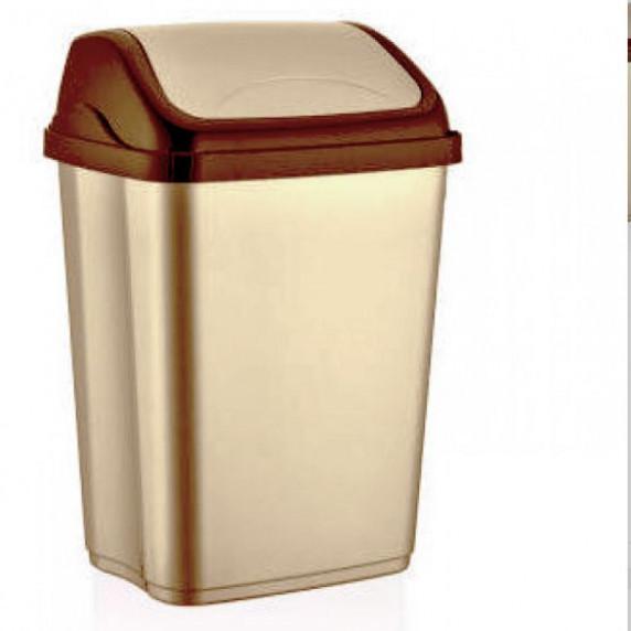Odpadkový kôš s výklopným vekom plastový 26 l VITTORIO - béžový