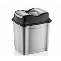 Odpadkový kôš s výklopným vekom plastový 9 l Inlea4Home - sivý