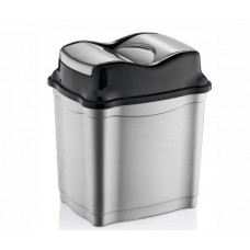 Odpadkový kôš s výklopným vekom plastový 9 l Inlea4Home - sivý Preview