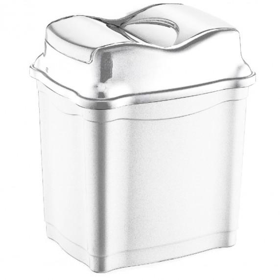 Odpadkový kôš s výklopným vekom plastový 28 l Inlea4Home - biely